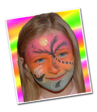 Tropical Sunset Face Painting