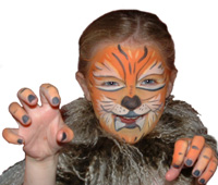 Face Painted Ferocious Tiger